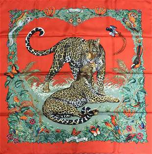 "Hermes ""Jungle Love"" Silk Scarf"