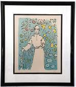 "Peter Max ""Monk in the Garden"" Serigraph"