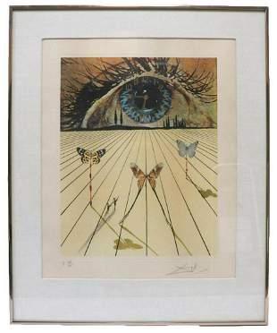 "Salvador Dali ""The Eye of Surrealist Time"" Lithograph"