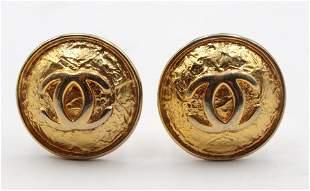 Vintage Chanel Gold Tone Earrings