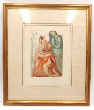 "Salvador Dali ""Divine Comedy"" Lithograph"