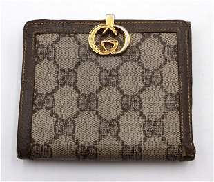 Vintage Gucci Monogram Canvas Wallet