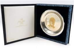 "Franklin Mint ""John Tyler"" Sterling Plate"
