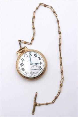 Hamilton Gold Filled Pocket Watch w/ Chain