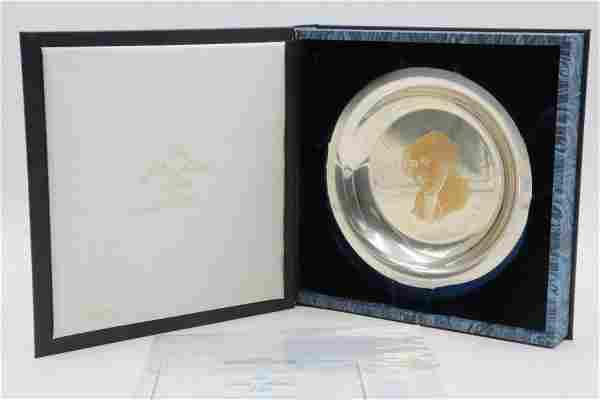 "Franklin Mint ""John Adams"" Sterling Plate"