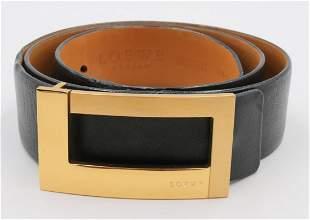 Loewe Madride Leather Belt