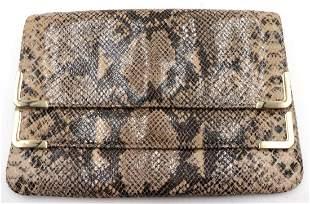 Michael Kors Faux Snake Skin Clutch