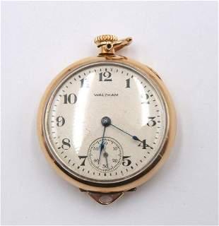 Waltham 1920 Ladies Gold Filled Pocket Watch