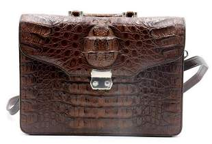Vintage Maraolo Crocodile Leather Satchel