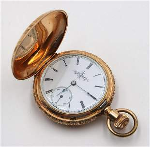 Antique Elgin 14Kt Yellow Gold Pocket Watch