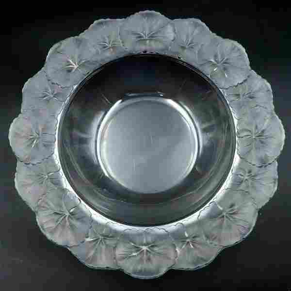 """Lalique """"Honfleur"""" Crystal Bowl"""