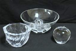 3 Pc. Signed Crystal Pieces