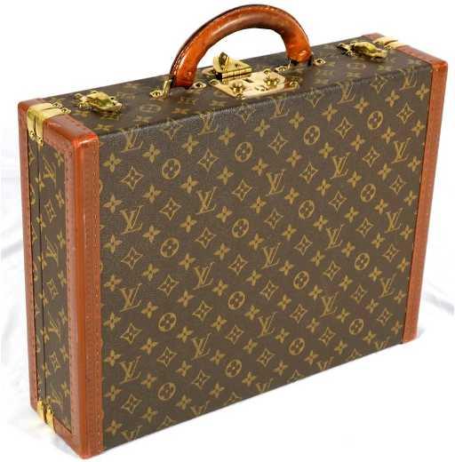 1164fa961385 Vintage Louis Vuitton President Classeur Hard Briefcase