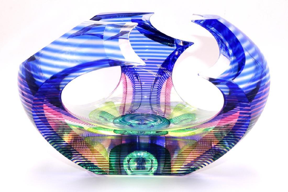 Kit Karbler (American 20th C.) Studio Glass Bowl