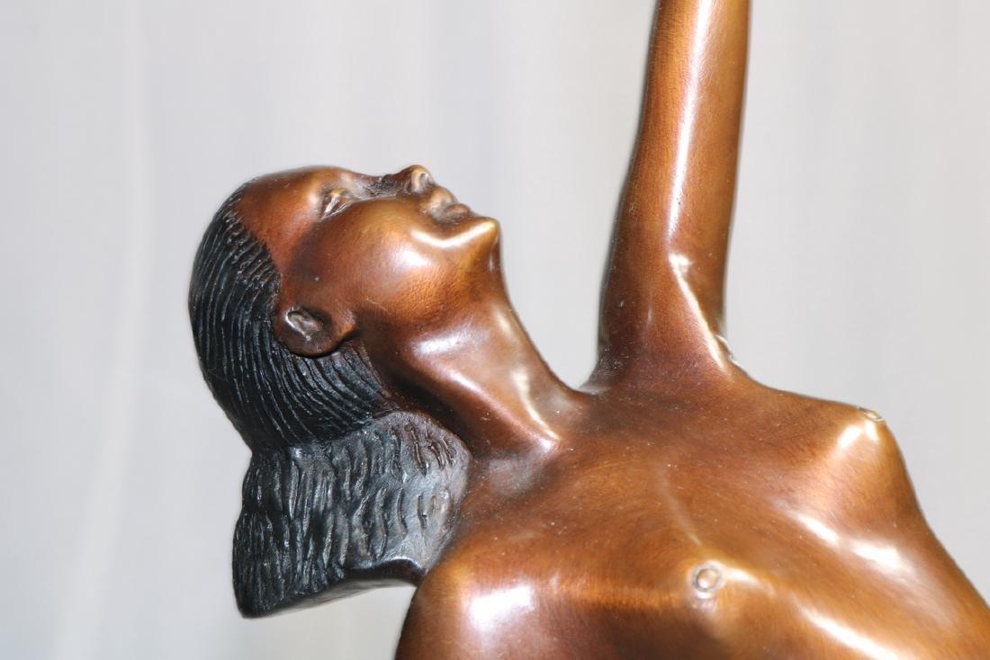 Signed Mayer Art Deco Bronze Sculpture - 2