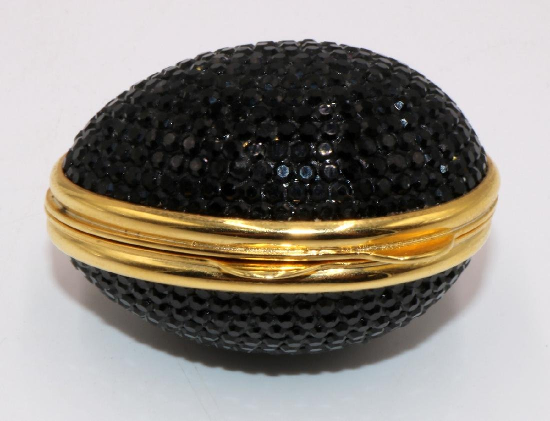 Judith Leiber Swarovski Crystal Egg Pill Box