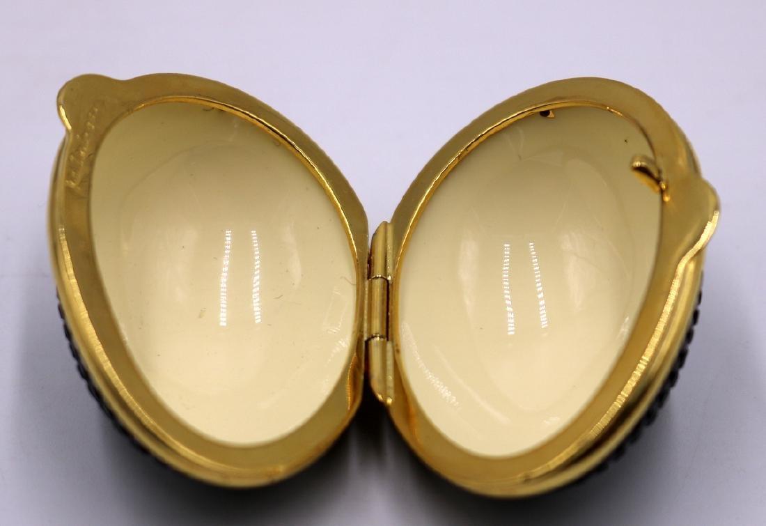 Judith Leiber Swarovski Crystal Egg Pill Box - 2