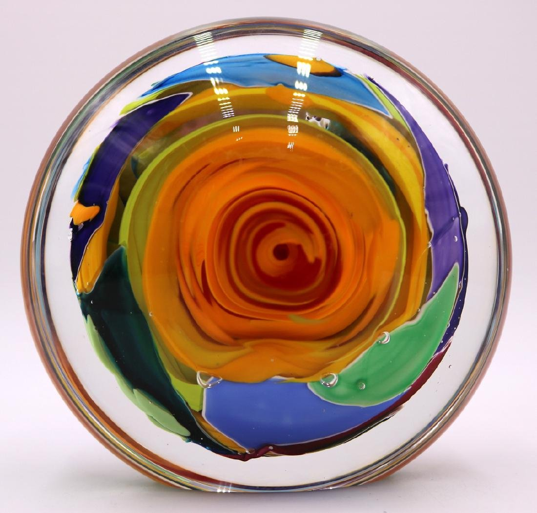 Signed Art Glass Paperweight - 2