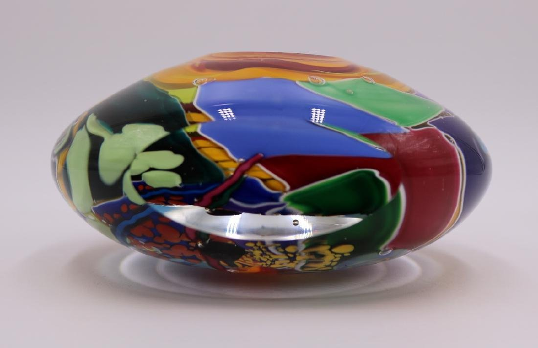 Signed Art Glass Paperweight - 3