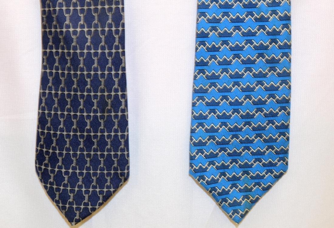 Two Hermes 100% Silk Ties