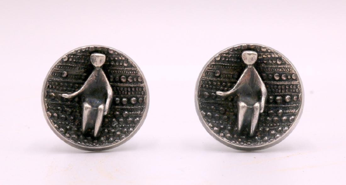 Pair of European Sterling Cufflinks