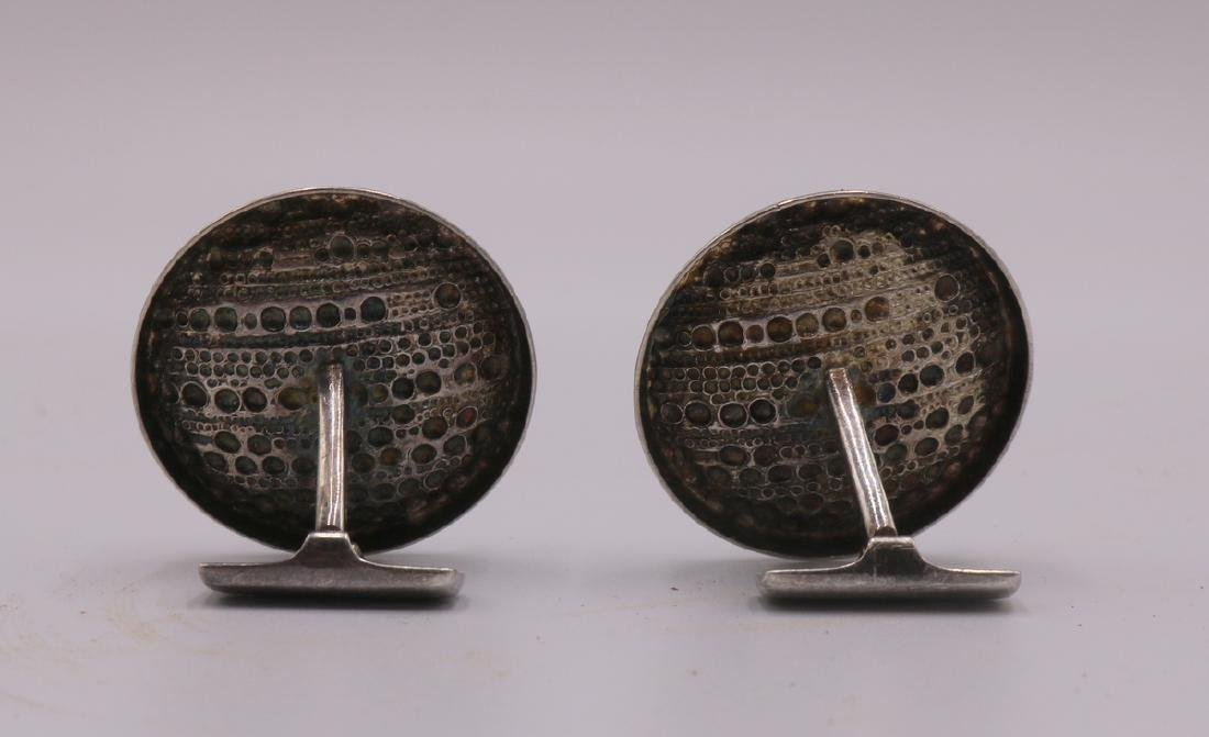Pair of European Sterling Cufflinks - 2