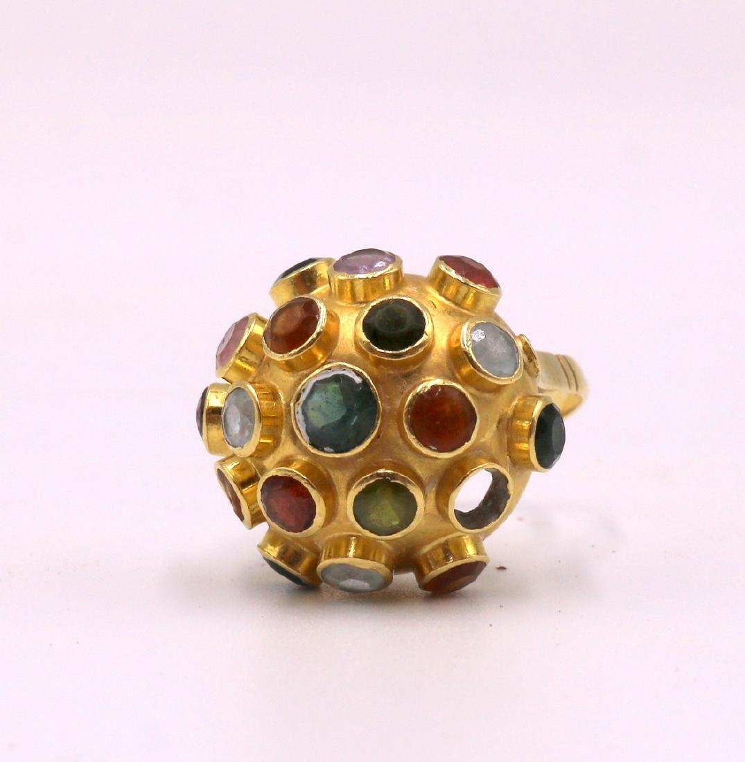 18Kt YG Semi-Precious Stone Ring