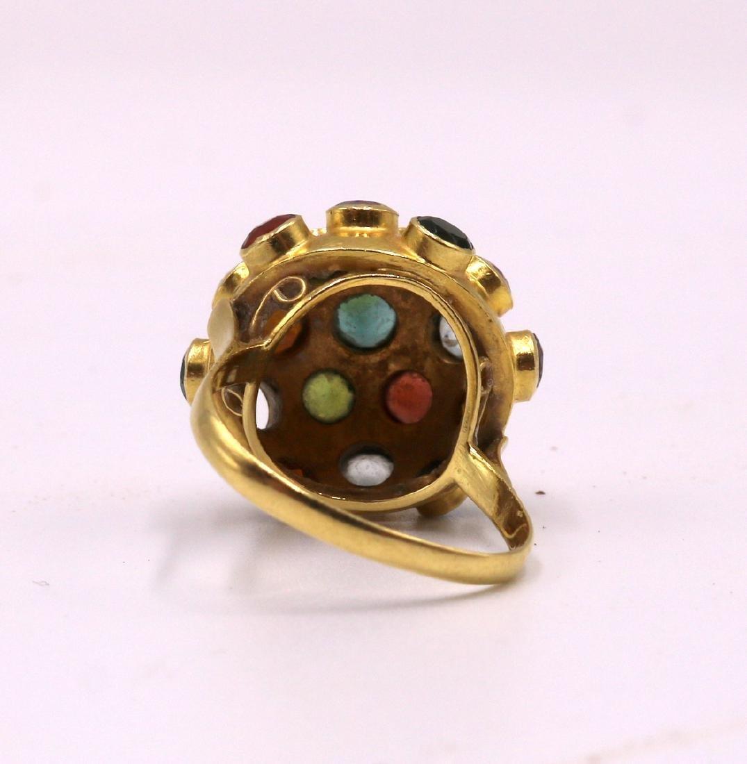 18Kt YG Semi-Precious Stone Ring - 2