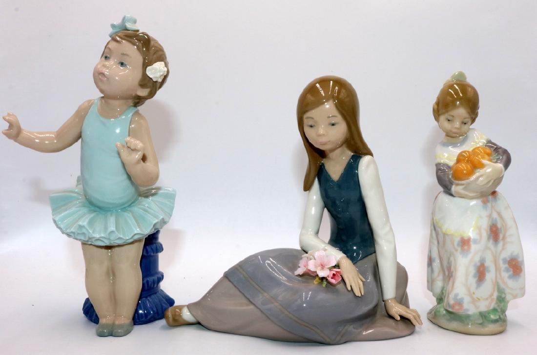 3 Pc. Lladro Porcelain Figures