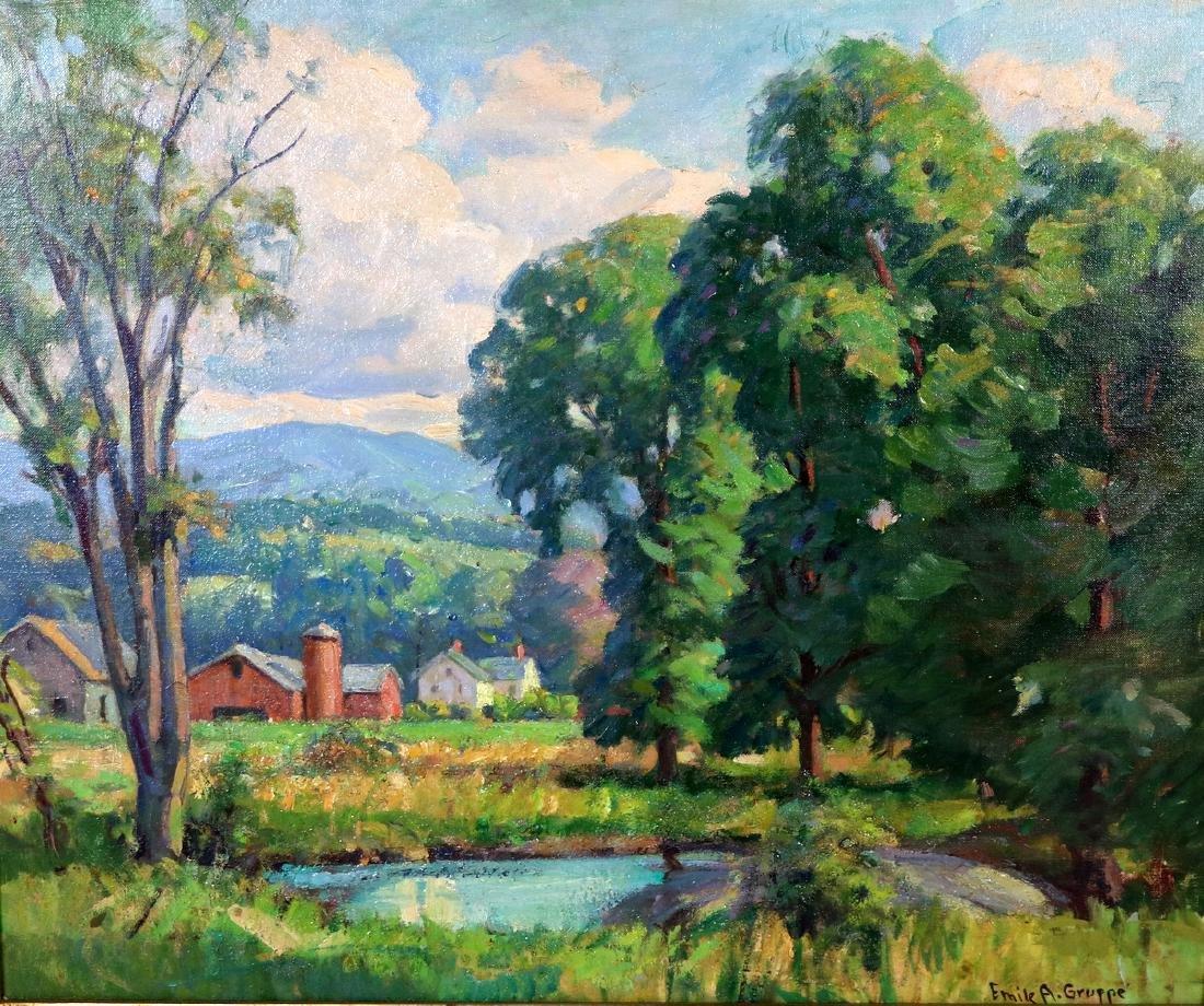 "Emile A. Gruppe (American 1896-1978) "" Vermont Farm"""