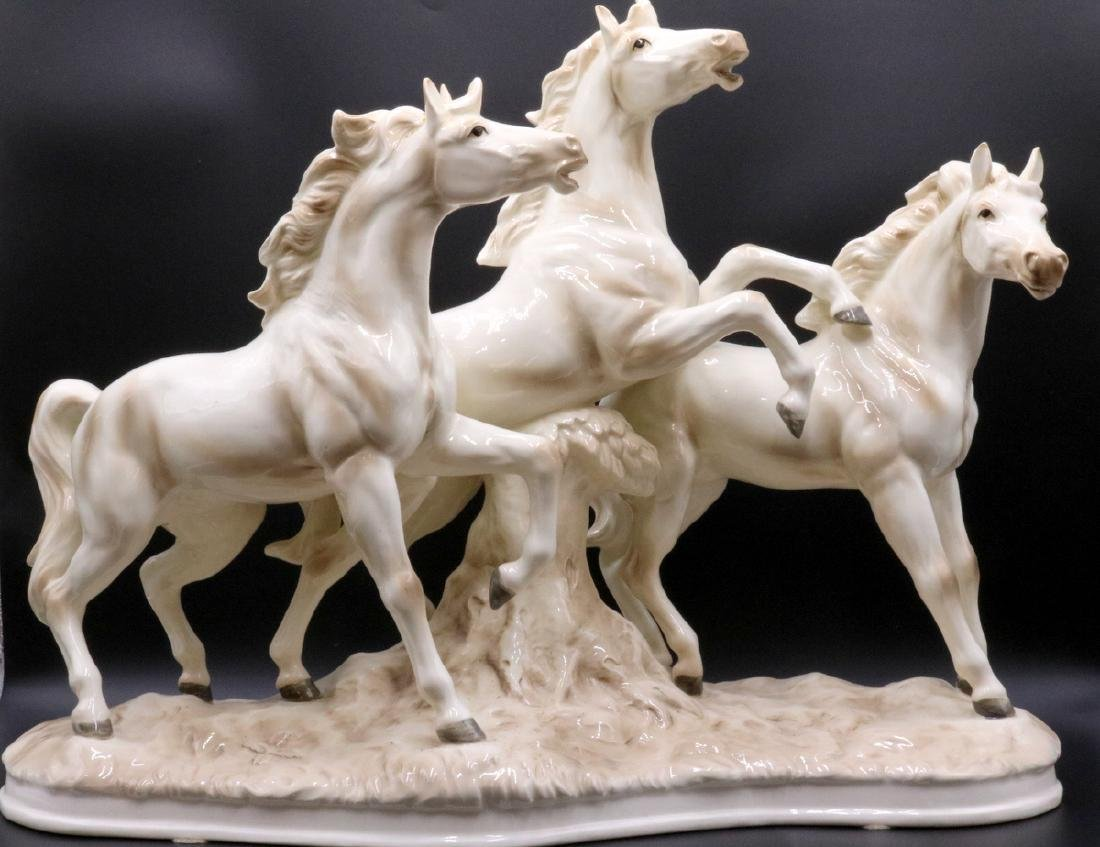Capodimonte Porcelain Horse Group
