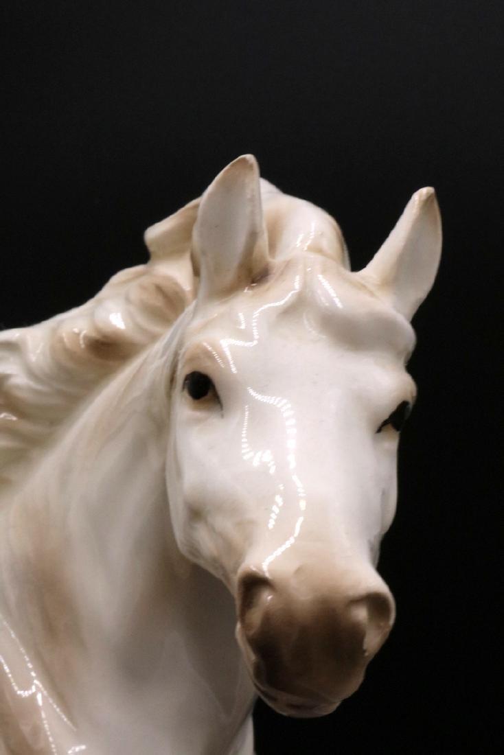 Capodimonte Porcelain Horse Group - 5