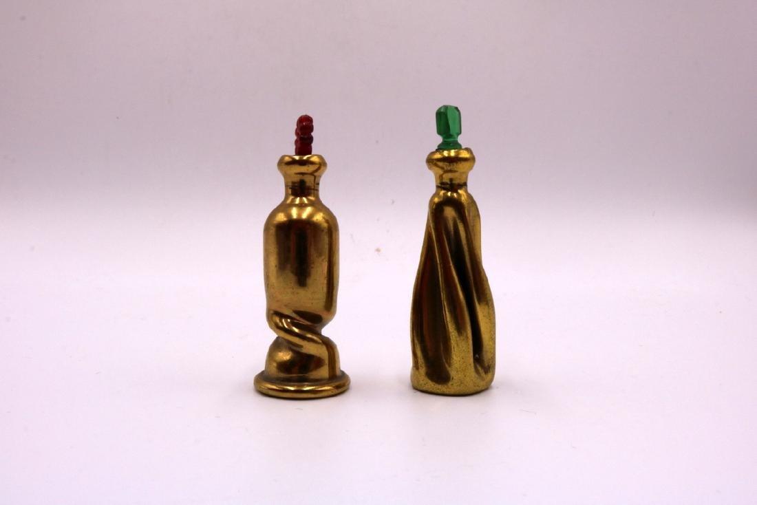 6 Pc. Miniature Painted Porcelain Perfume Bottles - 3
