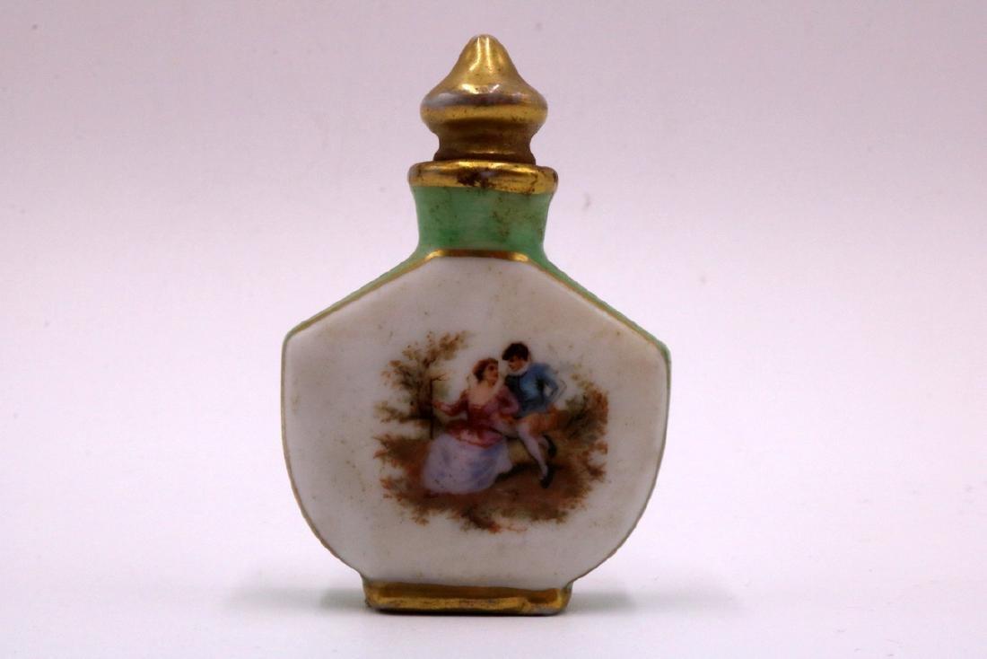 6 Pc. Miniature Painted Porcelain Perfume Bottles - 4