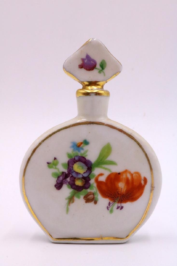 6 Pc. Miniature Painted Porcelain Perfume Bottles - 5