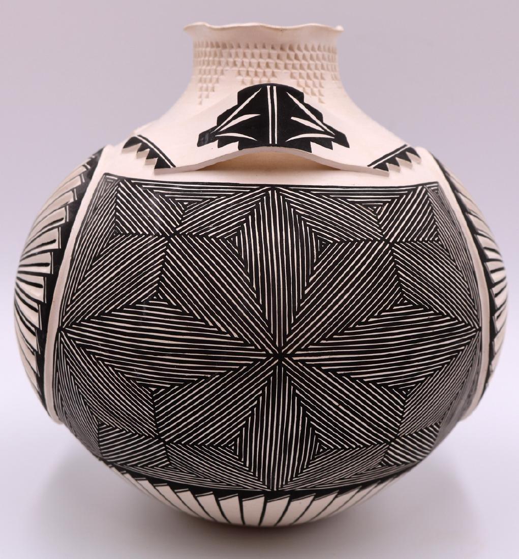 Signed S. Garcia Acoma Pottery Vase - 2
