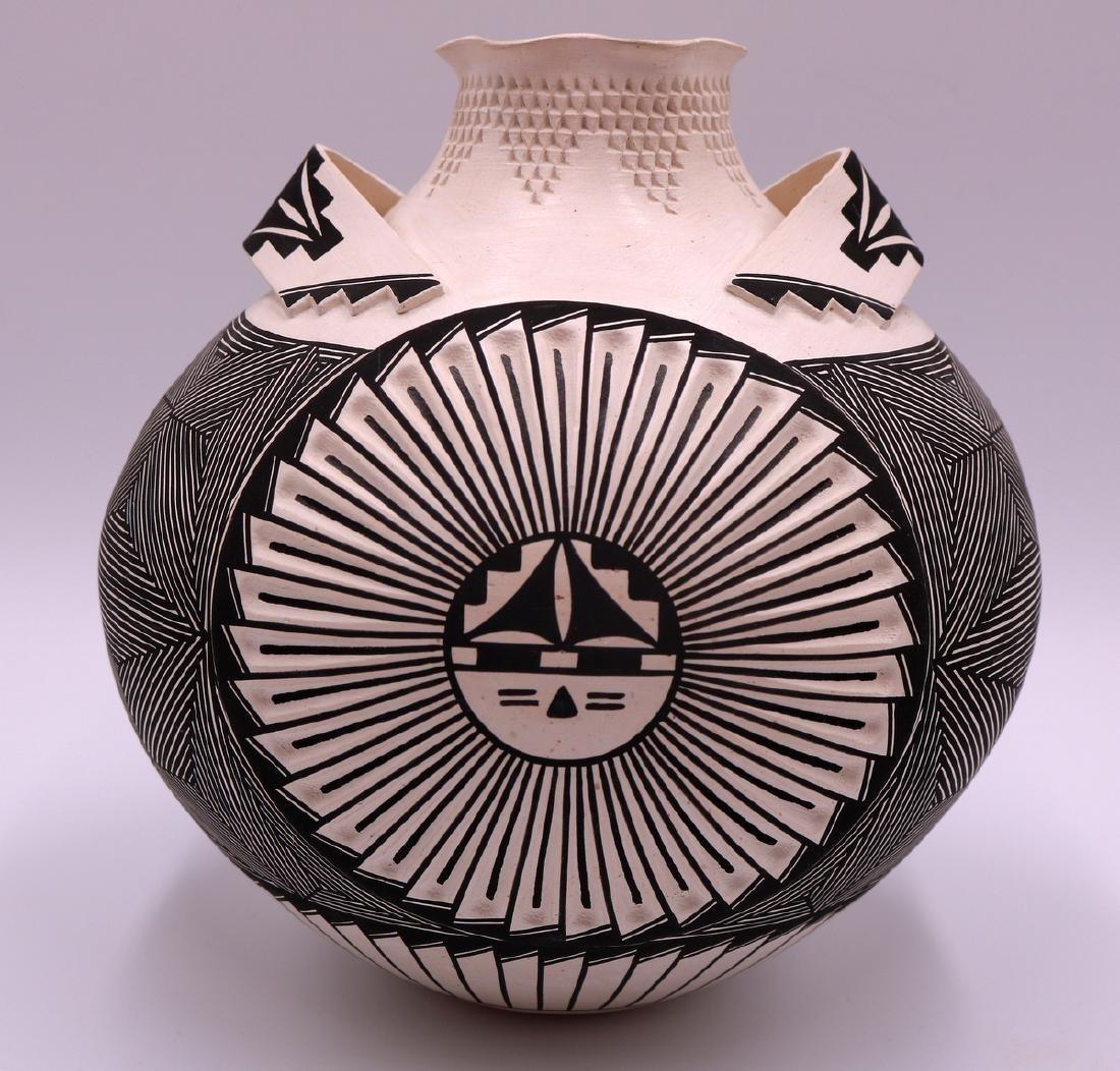 Signed S. Garcia Acoma Pottery Vase - 3