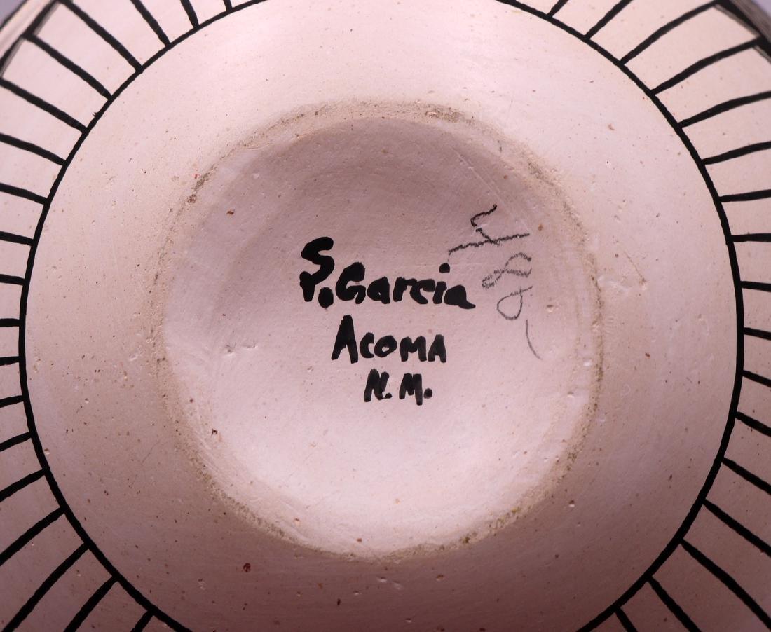 Signed S. Garcia Acoma Pottery Vase - 4