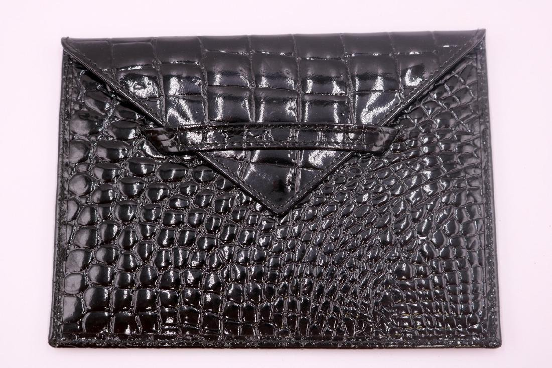 Genuine Black Crocodile Photo Holder