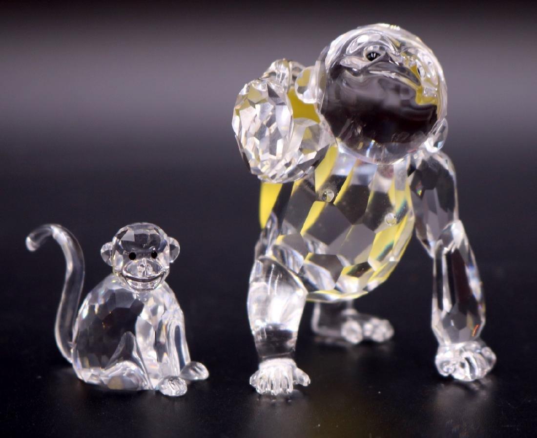 2 Pc. Swarovski Crystal Monkey & Gorilla