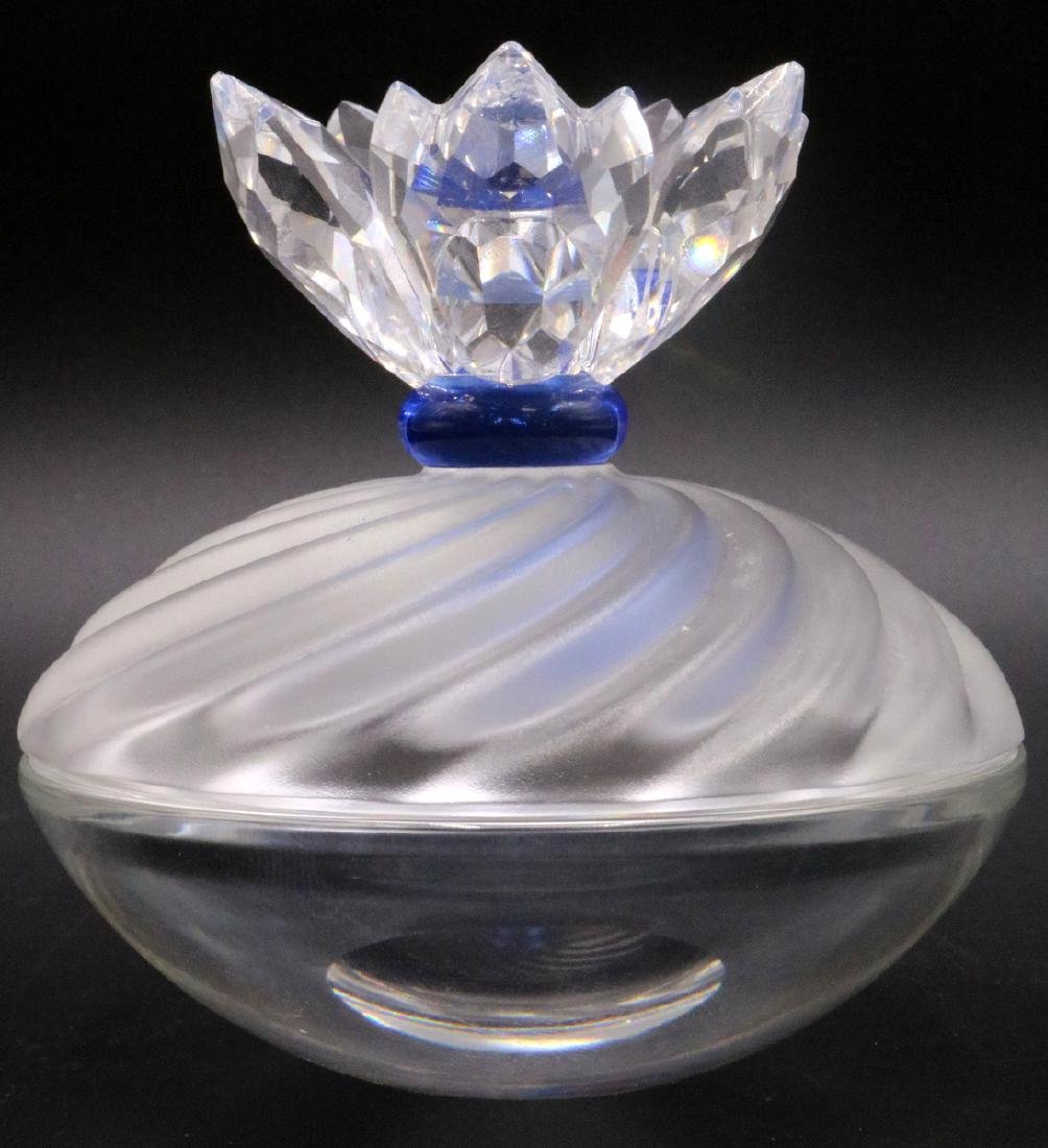 Swarovski Crystal Blue Flower Jewel Box