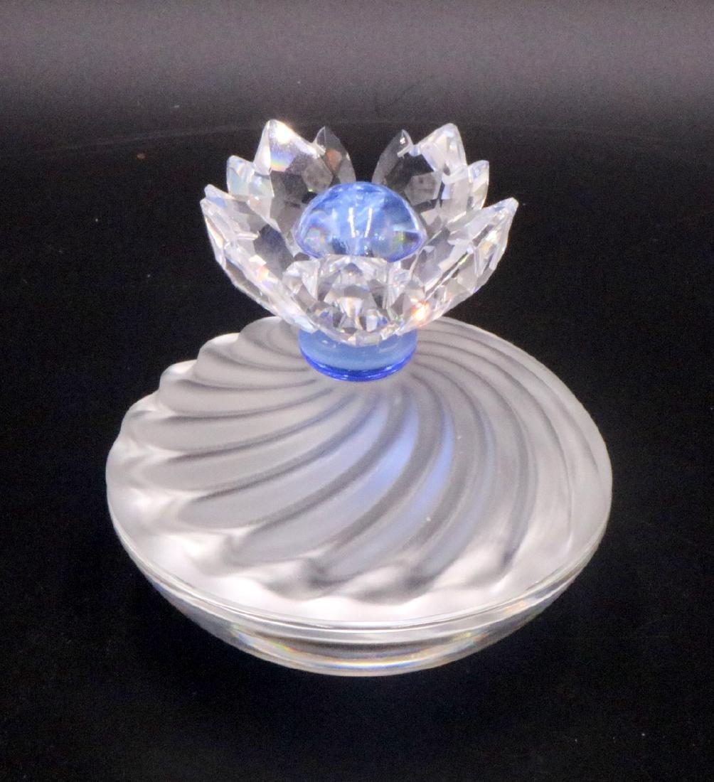 Swarovski Crystal Blue Flower Jewel Box - 3