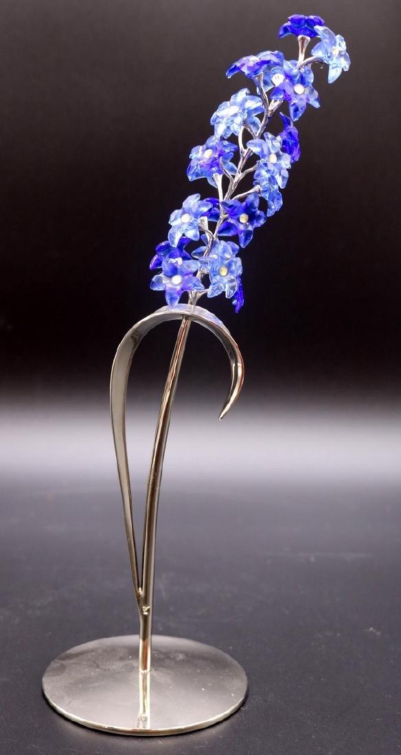 Swarovski Crystal Dindori Sapphire Blue Paradise Flower