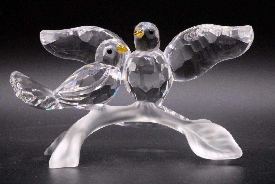 "Swarovski Crystal ""Turtle Doves"" Group"