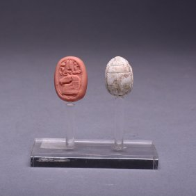 An Egyptian Steatite Scarab