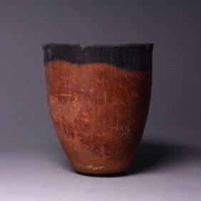 An Egyptian Black-Topped Pottery Jar