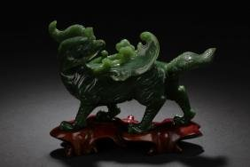 Chinese Antique Jade Carved Ornament