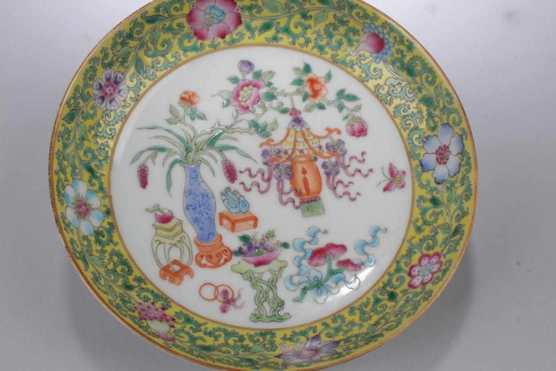 A Pair of Famille Verte Porcelain Plates - 3