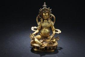 Chinese Gilt bronze Bodhisattva statue.