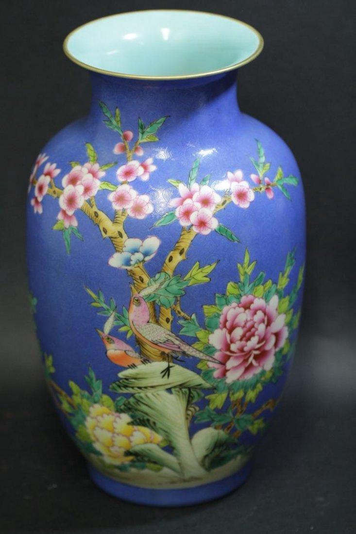 A Chinese Plum Blossom & Bird Vase - 3